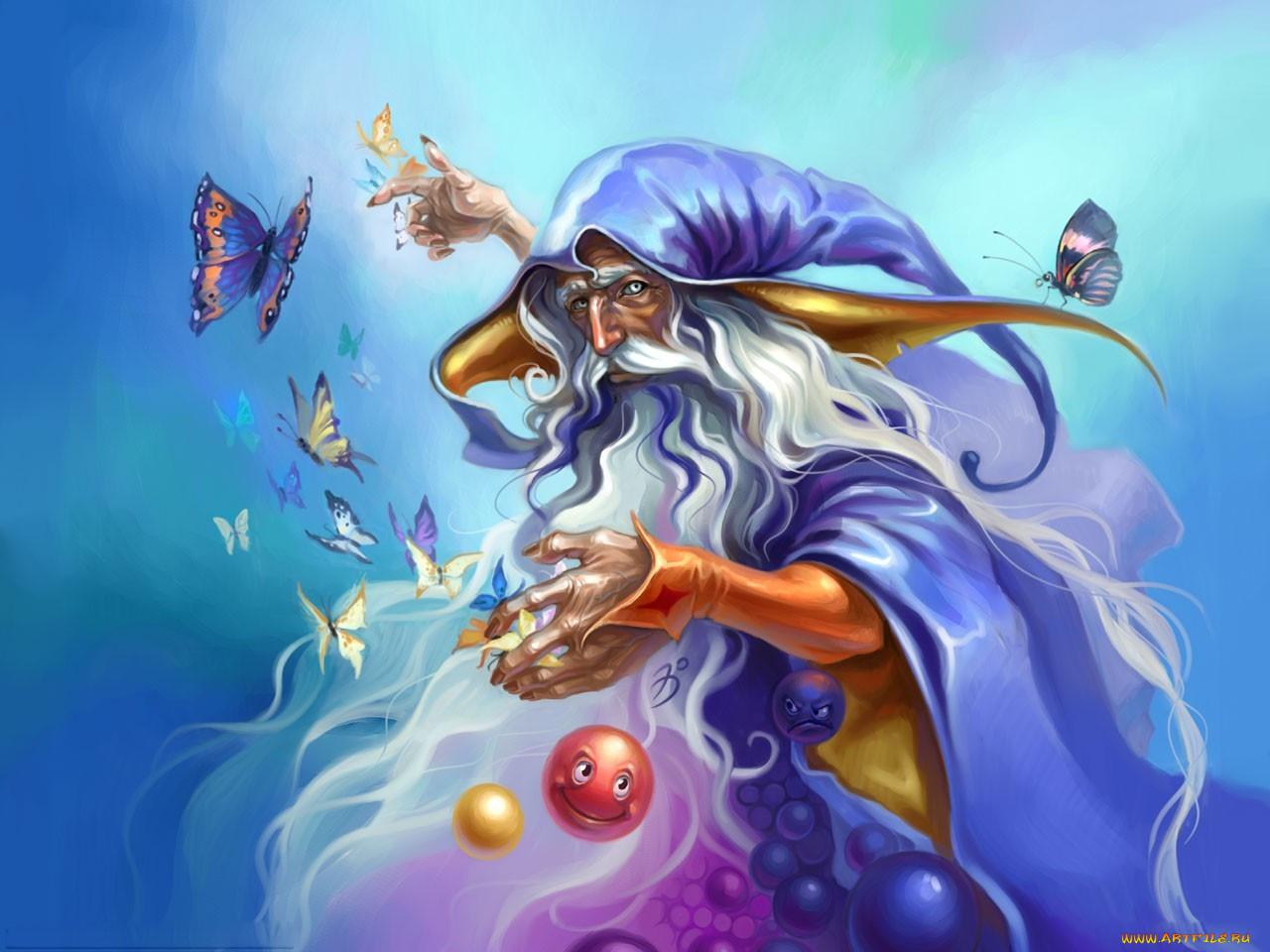 Картинка сказочного колдуна